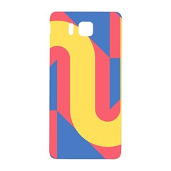 Rainbow Sign Yellow Red Blue Retro Samsung Galaxy Alpha Hardshell Back Case by Mariart