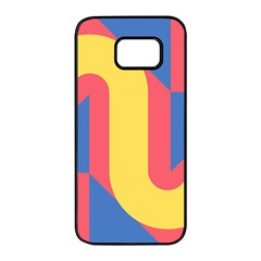 Rainbow Sign Yellow Red Blue Retro Samsung Galaxy S7 Edge Black Seamless Case by Mariart