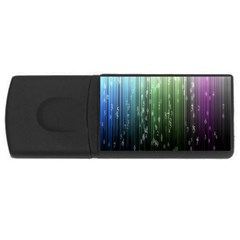Numerical Animation Random Stripes Rainbow Space Rectangular Usb Flash Drive by Mariart