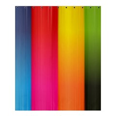 Rainbow Stripes Vertical Lines Colorful Blue Pink Orange Green Shower Curtain 60  X 72  (medium)  by Mariart