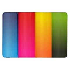 Rainbow Stripes Vertical Lines Colorful Blue Pink Orange Green Samsung Galaxy Tab 8 9  P7300 Flip Case by Mariart