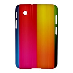 Rainbow Stripes Vertical Lines Colorful Blue Pink Orange Green Samsung Galaxy Tab 2 (7 ) P3100 Hardshell Case  by Mariart