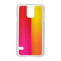 Rainbow Stripes Vertical Lines Colorful Blue Pink Orange Green Samsung Galaxy S5 Case (white) by Mariart