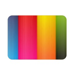 Rainbow Stripes Vertical Lines Colorful Blue Pink Orange Green Double Sided Flano Blanket (mini)  by Mariart