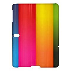 Rainbow Stripes Vertical Lines Colorful Blue Pink Orange Green Samsung Galaxy Tab S (10 5 ) Hardshell Case  by Mariart