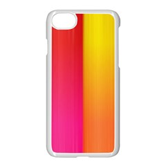 Rainbow Stripes Vertical Lines Colorful Blue Pink Orange Green Apple Iphone 7 Seamless Case (white) by Mariart