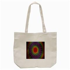 Rainbow Mandala Circle Tote Bag (cream) by Mariart