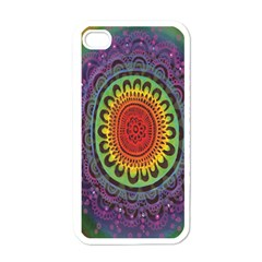 Rainbow Mandala Circle Apple Iphone 4 Case (white) by Mariart