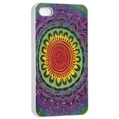 Rainbow Mandala Circle Apple Iphone 4/4s Seamless Case (white) by Mariart