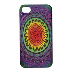 Rainbow Mandala Circle Apple Iphone 4/4s Hardshell Case With Stand by Mariart
