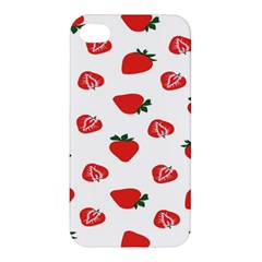 Red Fruit Strawberry Pattern Apple Iphone 4/4s Hardshell Case by Mariart