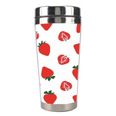 Red Fruit Strawberry Pattern Stainless Steel Travel Tumblers by Mariart