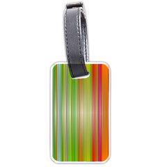 Rainbow Stripes Vertical Colorful Bright Luggage Tags (two Sides) by Mariart