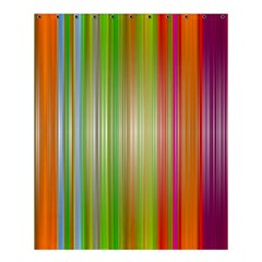 Rainbow Stripes Vertical Colorful Bright Shower Curtain 60  X 72  (medium)  by Mariart