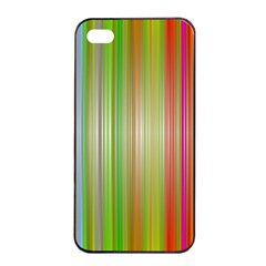 Rainbow Stripes Vertical Colorful Bright Apple Iphone 4/4s Seamless Case (black) by Mariart