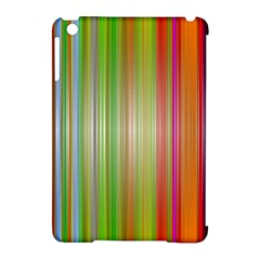 Rainbow Stripes Vertical Colorful Bright Apple Ipad Mini Hardshell Case (compatible With Smart Cover) by Mariart