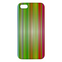 Rainbow Stripes Vertical Colorful Bright Iphone 5s/ Se Premium Hardshell Case by Mariart