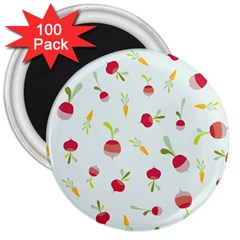 Root Vegetables Pattern Carrots 3  Magnets (100 Pack)