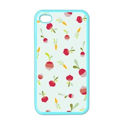 Root Vegetables Pattern Carrots Apple Iphone 4 Case (color) by Mariart