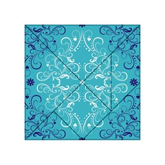 Repeatable Patterns Shutterstock Blue Leaf Heart Love Acrylic Tangram Puzzle (4  X 4 ) by Mariart