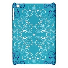 Repeatable Patterns Shutterstock Blue Leaf Heart Love Apple Ipad Mini Hardshell Case by Mariart