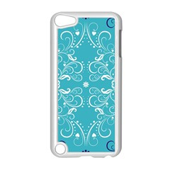 Repeatable Patterns Shutterstock Blue Leaf Heart Love Apple Ipod Touch 5 Case (white) by Mariart