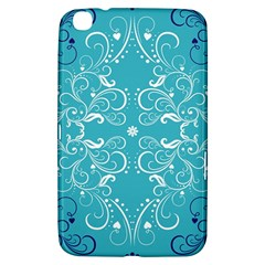 Repeatable Patterns Shutterstock Blue Leaf Heart Love Samsung Galaxy Tab 3 (8 ) T3100 Hardshell Case  by Mariart