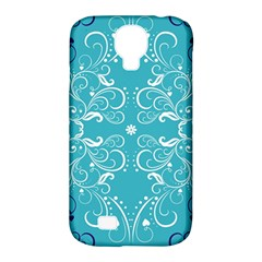 Repeatable Patterns Shutterstock Blue Leaf Heart Love Samsung Galaxy S4 Classic Hardshell Case (pc+silicone) by Mariart