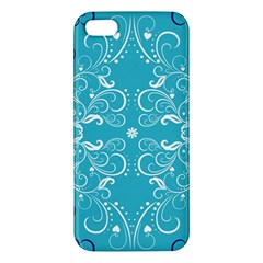 Repeatable Patterns Shutterstock Blue Leaf Heart Love Iphone 5s/ Se Premium Hardshell Case by Mariart