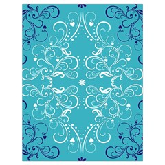 Repeatable Patterns Shutterstock Blue Leaf Heart Love Drawstring Bag (large) by Mariart