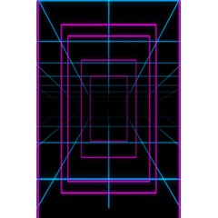Retro Neon Grid Squares And Circle Pop Loop Motion Background Plaid Purple 5 5  X 8 5  Notebooks by Mariart
