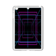 Retro Neon Grid Squares And Circle Pop Loop Motion Background Plaid Purple Ipad Mini 2 Enamel Coated Cases by Mariart