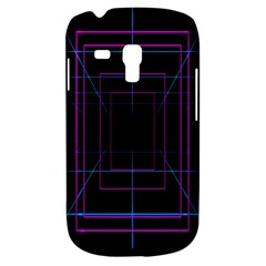 Retro Neon Grid Squares And Circle Pop Loop Motion Background Plaid Purple Galaxy S3 Mini by Mariart