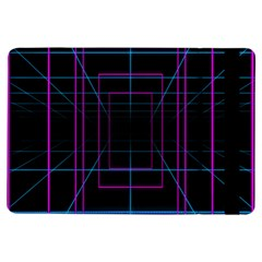 Retro Neon Grid Squares And Circle Pop Loop Motion Background Plaid Purple Ipad Air Flip by Mariart