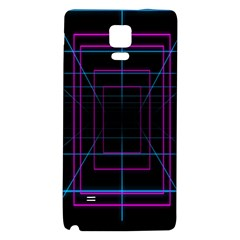 Retro Neon Grid Squares And Circle Pop Loop Motion Background Plaid Purple Galaxy Note 4 Back Case by Mariart