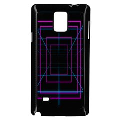 Retro Neon Grid Squares And Circle Pop Loop Motion Background Plaid Purple Samsung Galaxy Note 4 Case (black)