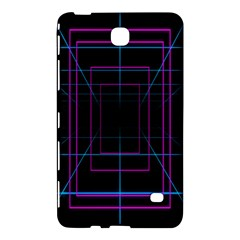Retro Neon Grid Squares And Circle Pop Loop Motion Background Plaid Purple Samsung Galaxy Tab 4 (8 ) Hardshell Case  by Mariart