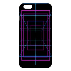 Retro Neon Grid Squares And Circle Pop Loop Motion Background Plaid Purple Iphone 6 Plus/6s Plus Tpu Case by Mariart
