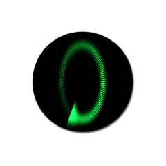 Rotating Ring Loading Circle Various Colors Loop Motion Green Magnet 3  (round) by Mariart
