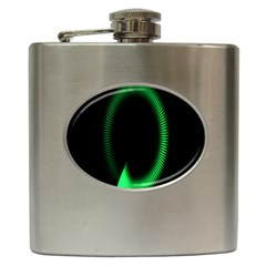 Rotating Ring Loading Circle Various Colors Loop Motion Green Hip Flask (6 Oz) by Mariart