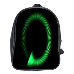 Rotating Ring Loading Circle Various Colors Loop Motion Green School Bag (large) by Mariart