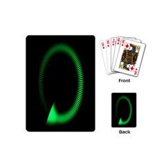 Rotating Ring Loading Circle Various Colors Loop Motion Green Playing Cards (mini)  by Mariart