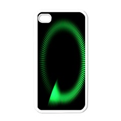 Rotating Ring Loading Circle Various Colors Loop Motion Green Apple Iphone 4 Case (white) by Mariart