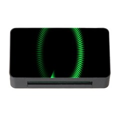 Rotating Ring Loading Circle Various Colors Loop Motion Green Memory Card Reader With Cf by Mariart
