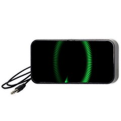 Rotating Ring Loading Circle Various Colors Loop Motion Green Portable Speaker (black) by Mariart
