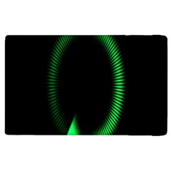 Rotating Ring Loading Circle Various Colors Loop Motion Green Apple Ipad 2 Flip Case by Mariart