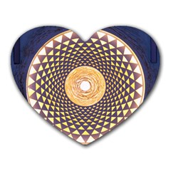 Sahasrara Blue Heart Mousepads by Mariart