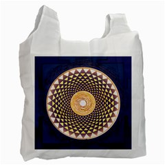 Sahasrara Blue Recycle Bag (two Side)  by Mariart