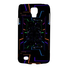 Seamless 3d Animation Digital Futuristic Tunnel Path Color Changing Geometric Electrical Line Zoomin Galaxy S4 Active by Mariart
