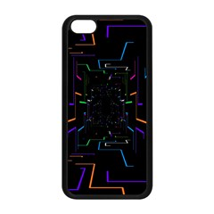 Seamless 3d Animation Digital Futuristic Tunnel Path Color Changing Geometric Electrical Line Zoomin Apple Iphone 5c Seamless Case (black) by Mariart